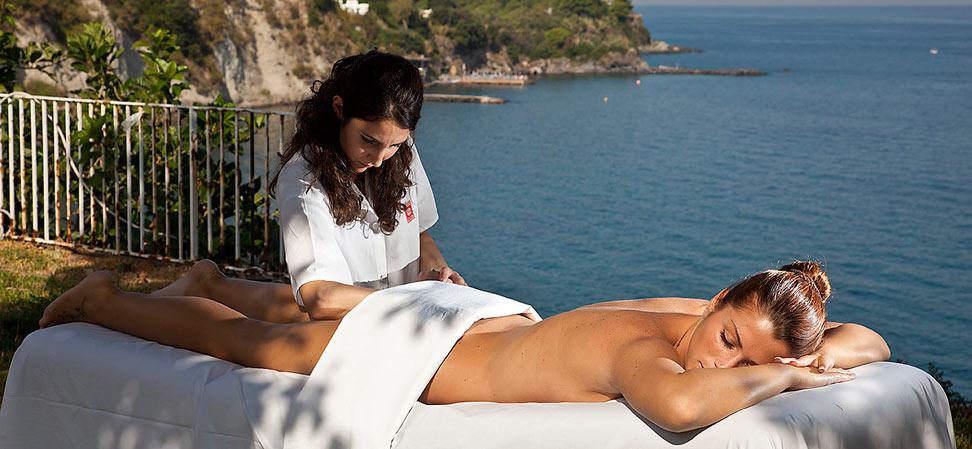 Massaggio all'aperto